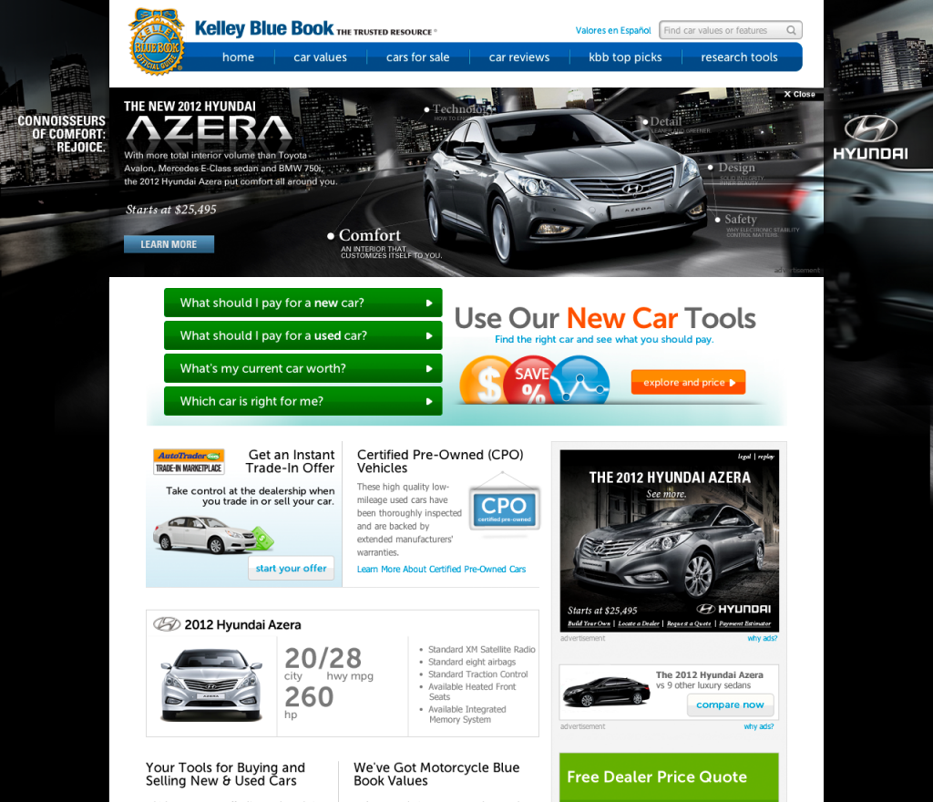 Kelley Blue Book Hyundai Azera Sponsorship