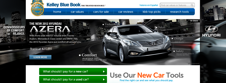 Hyundai Azera on kbb.com